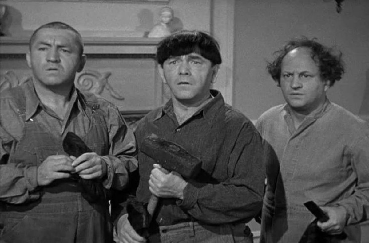 Half Wits Holiday movie short. Curly Howard on the far left.