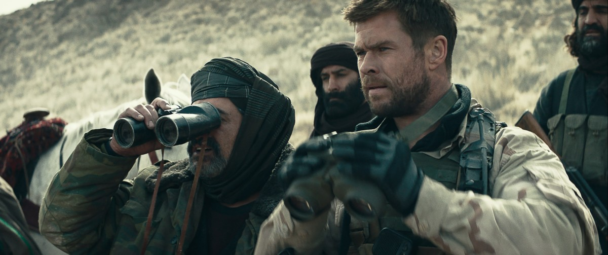 "Navid Negahban and Chris Hemsworth star in ""12 Strong."" Here they can be seen searching for better films to be a part of."