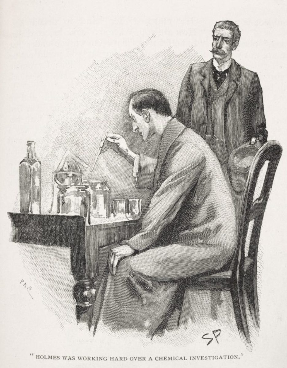 Sherlock Holmes as drawn in The Strand Magazine by Sydney Paget