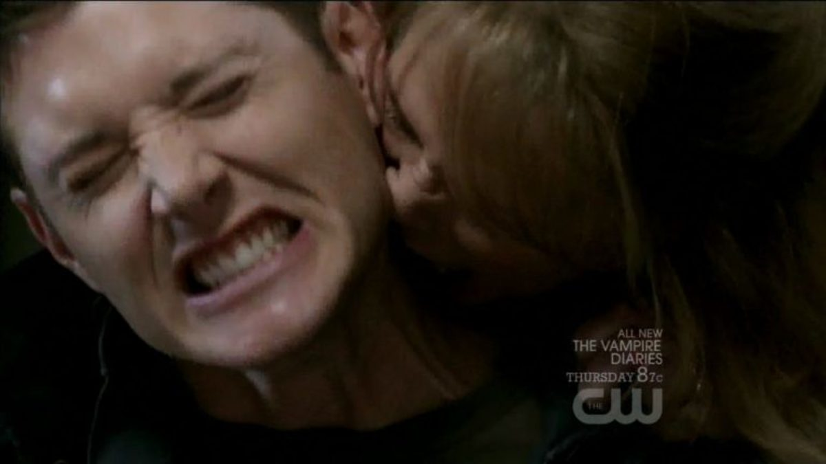 Dean discovers that vampires are a literal pain in the neck