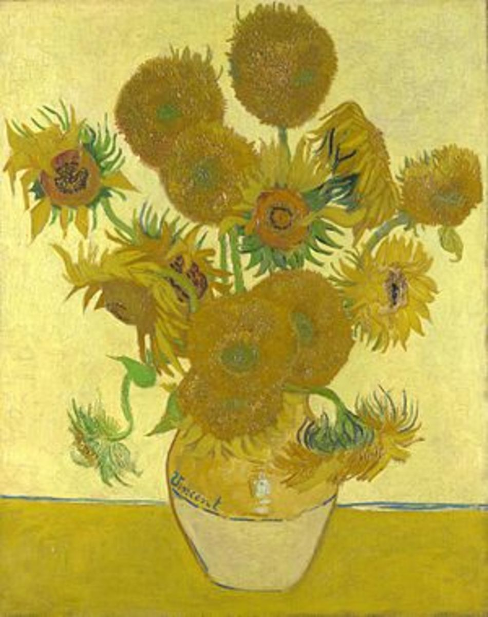 One of Van Gogh's studies on Sunflowers