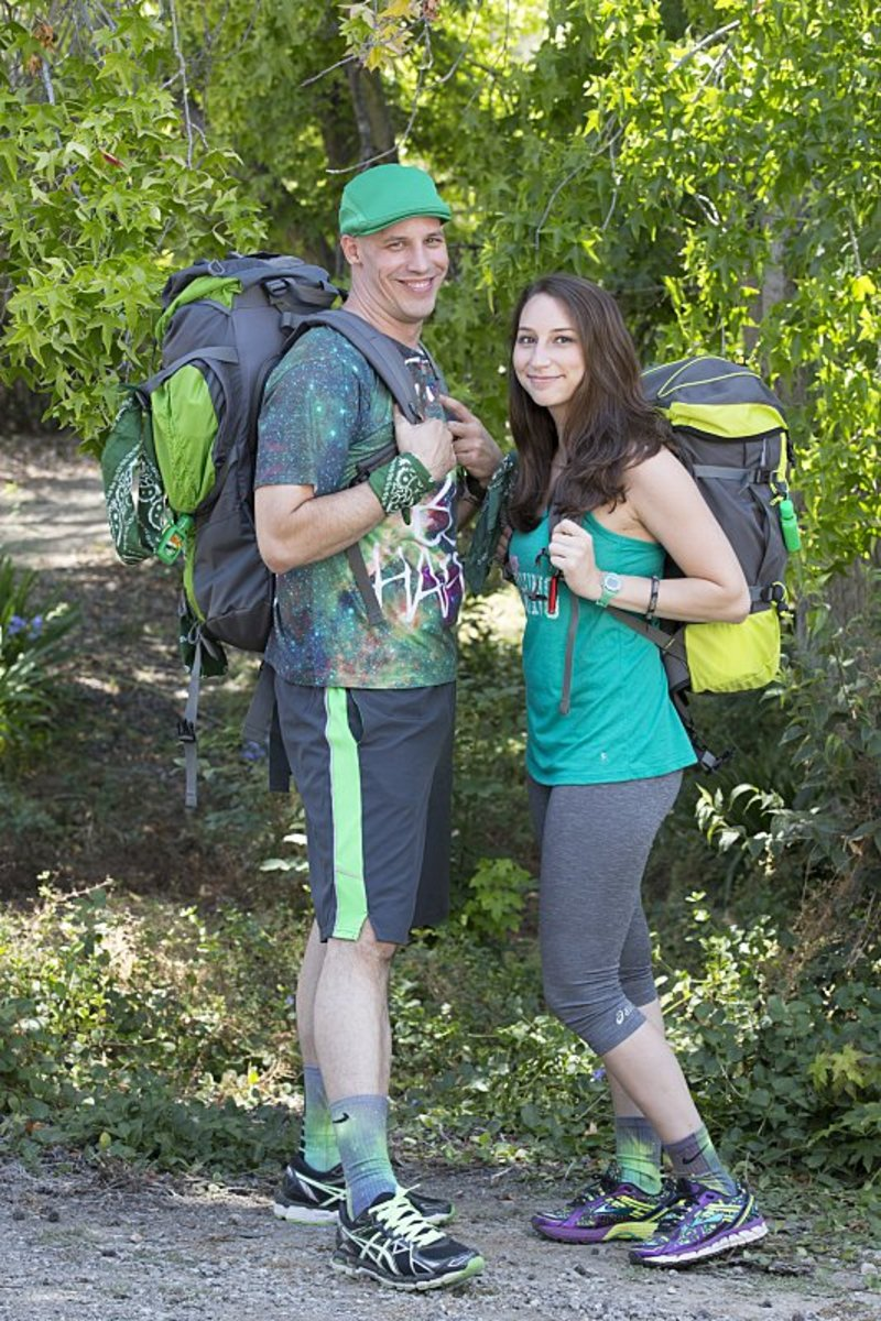 Justin & Diana powering up for the Amazing Race.  Picture courtesy of the source and CBS.