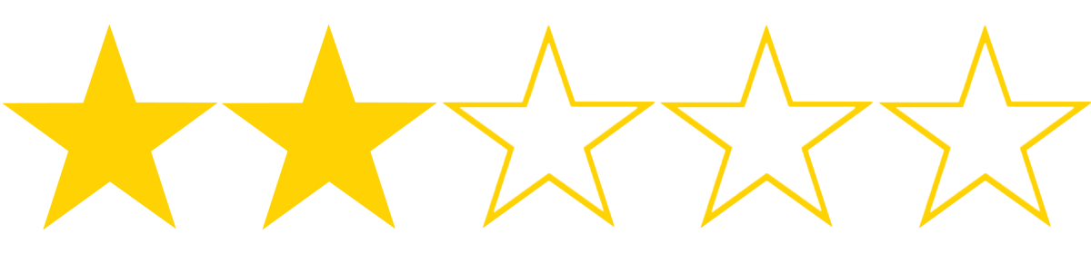 2 stars out of 5