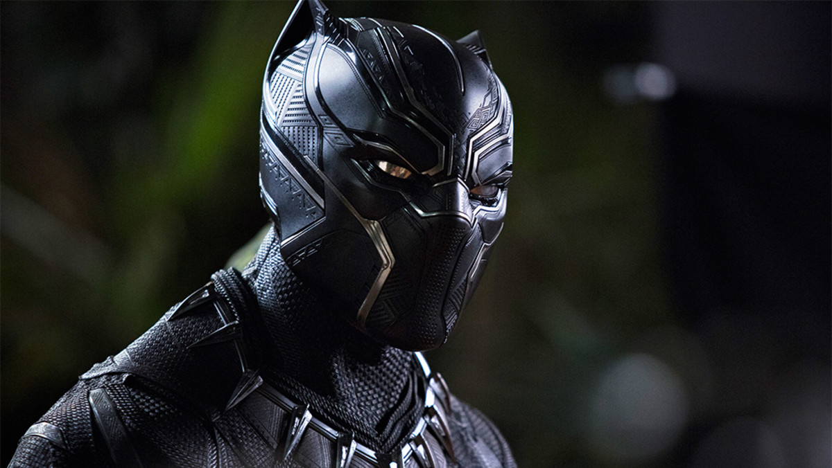 Chadwick Boseman as the Black Panther.
