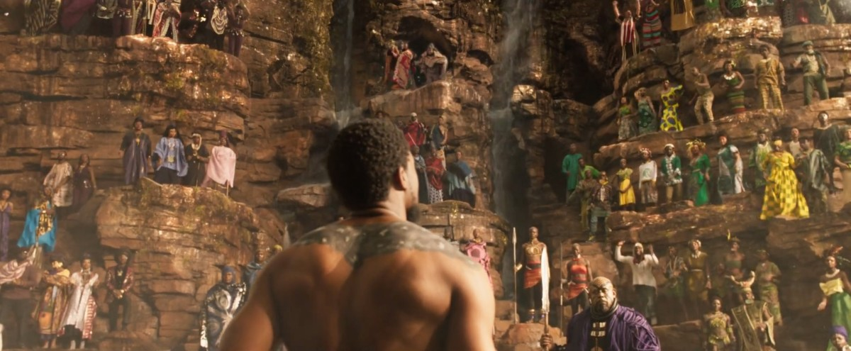 "The breathtaking challenge for the throne sequence in, ""Black Panther."""