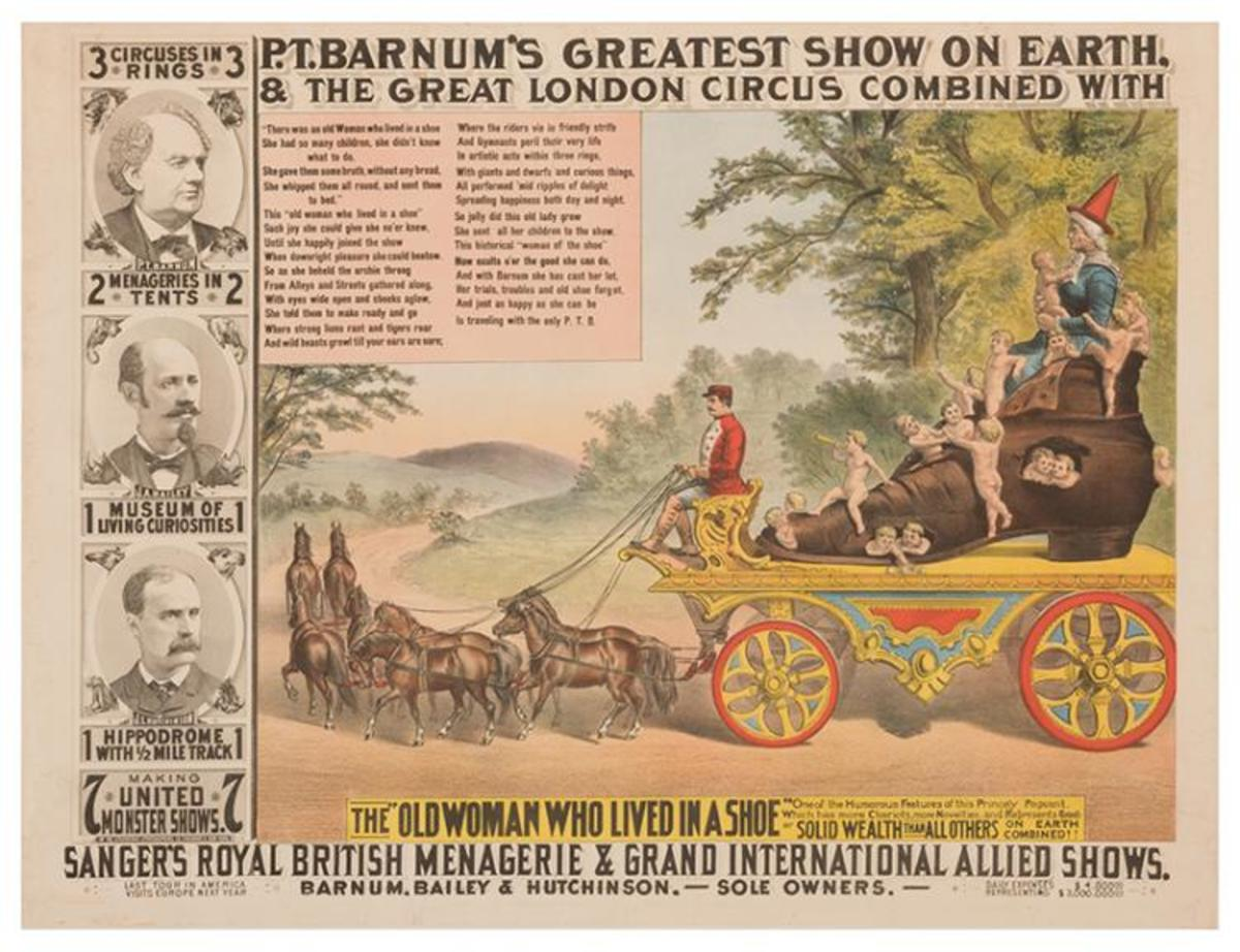 A Master Of Marketing, Barnum Always Insisted That Posters Be Spectacular In Appearance To Grab The Attention Of Passers By.