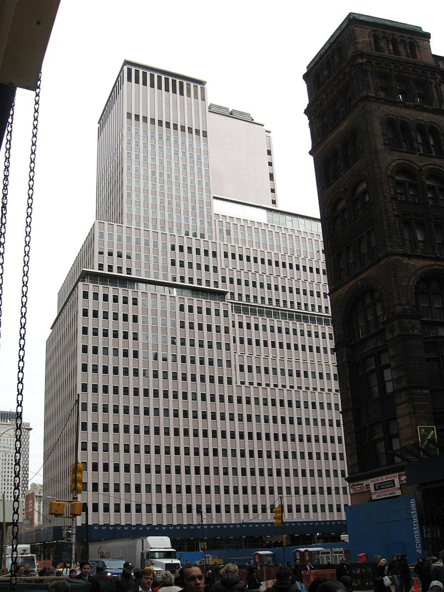 The Western Electric Building Now Occupies The Place Where Barnum's Museum Originally Stood.  Barnum Rebuilt His Museum Only To Have It Burn Again In 1897.  The Western Electric Building Was Built In 1958.