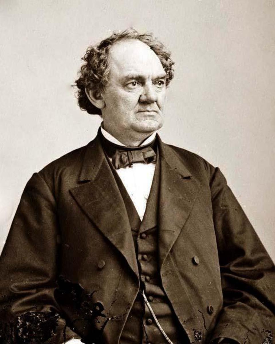 Barnum in later life. Unfortunately, I could not find any high quality pictures of his wife, Charity Hallet Barnum.