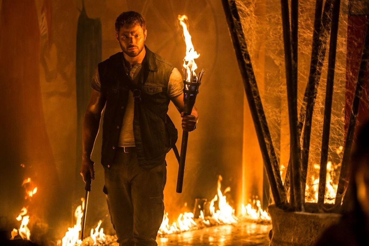 "Kellan Lutz plays with fire and still can't help but be lame in, ""7 Guardians of the Tomb."""