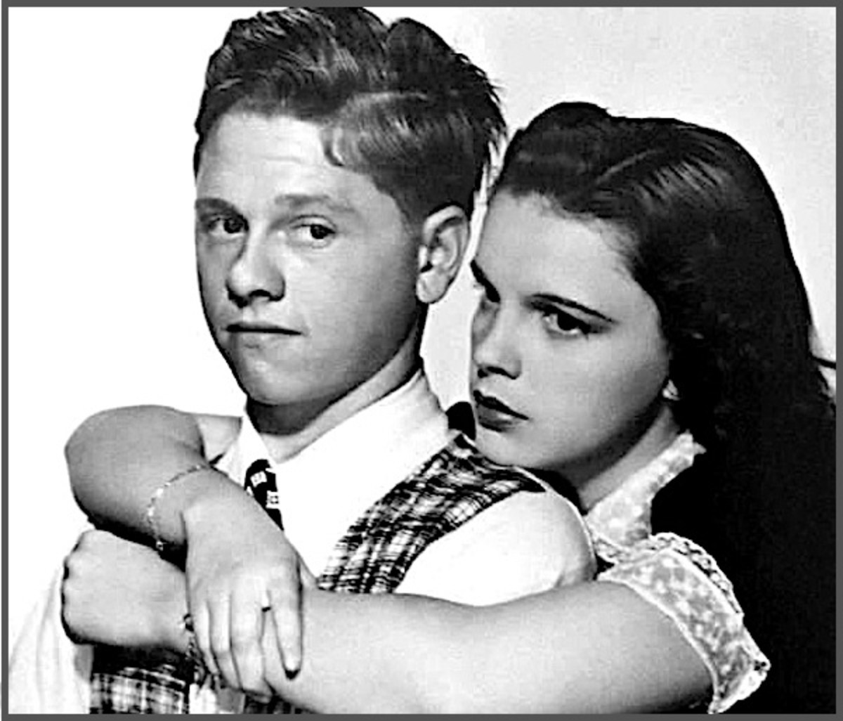 Judy Garland and Mickey Rooney teamed up for a number of memorable movies, typically playing boyfriend and girlfriend.