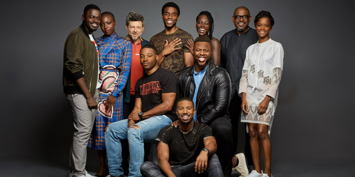 Most of the cast of Black Panther