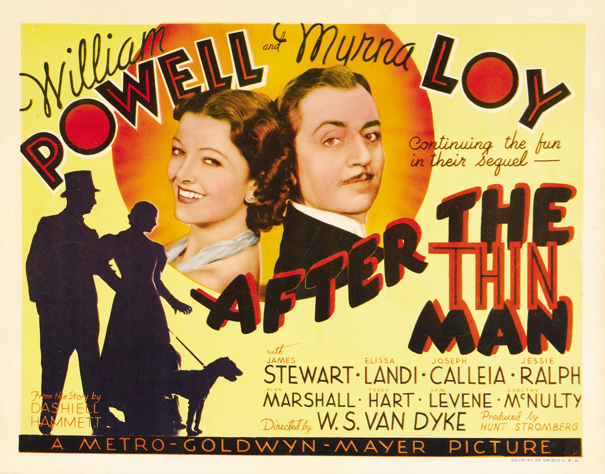 "Title lobby card for ""After the Thin Man"" (1936)"