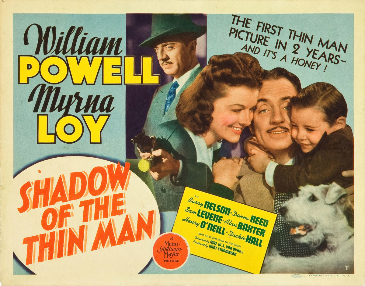 "Title lobby card for ""Shadow of the Thin Man"" (1941)"