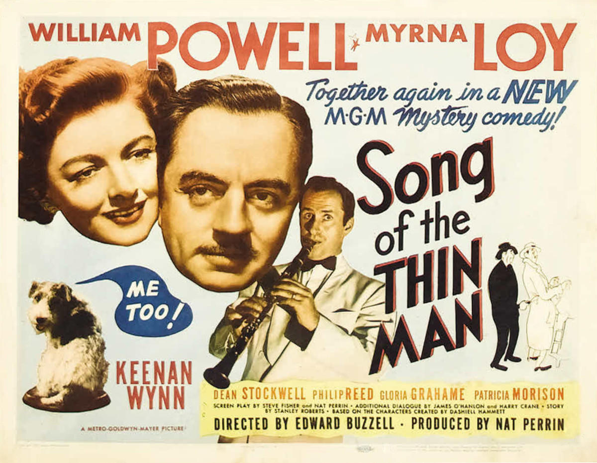 "Movie poster for ""Song of the Thin Man"" (1947)"
