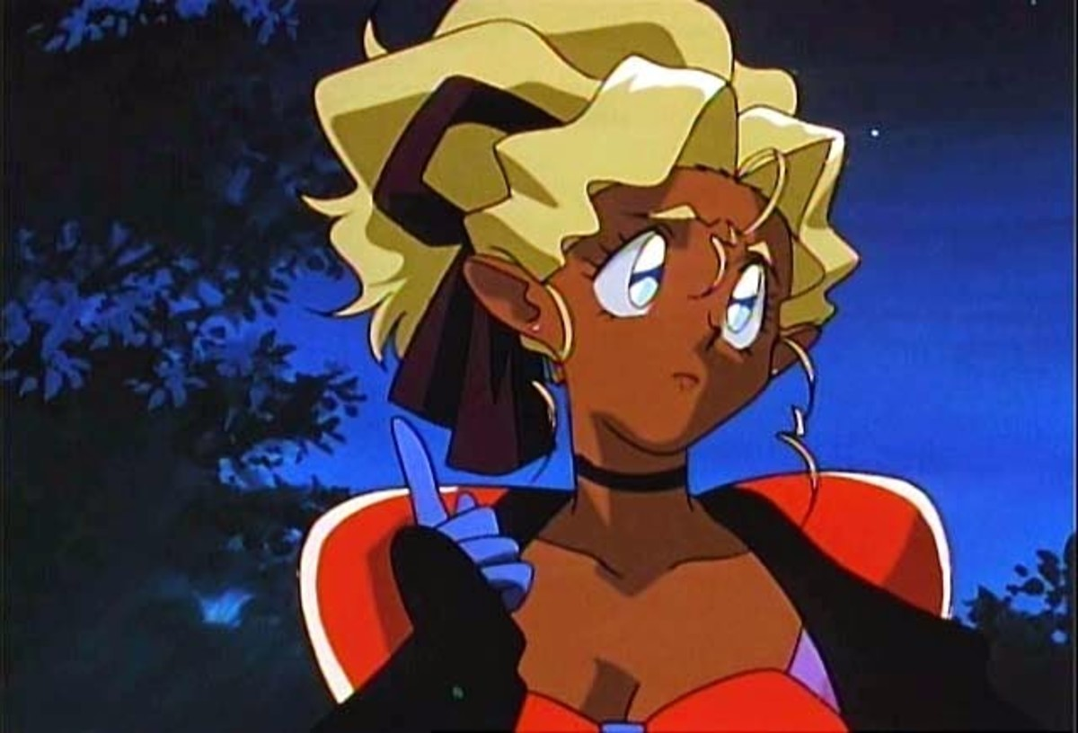 Mihoshi from 'Tenchi Muyo', showing us how high she can count.