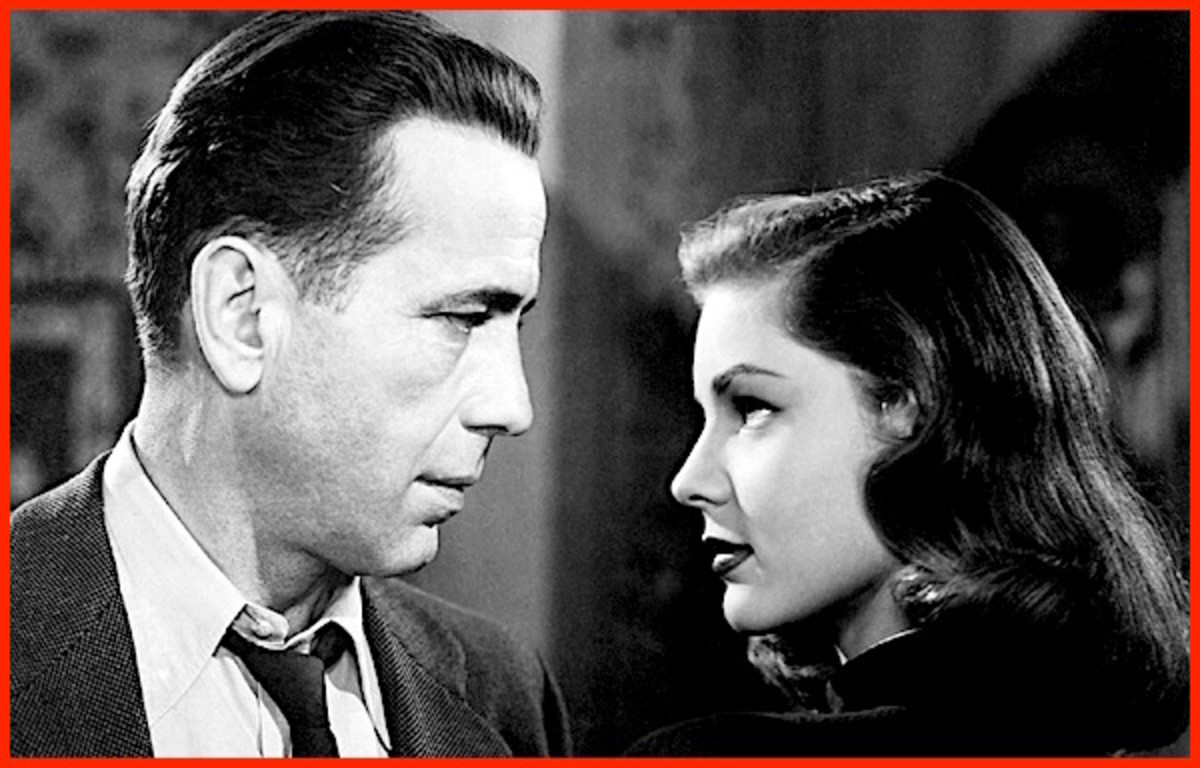 Humphrey Bogart was 44 when he met and fell in love with a 19-year-old fledgling actress named Lauren Bacall.  He soon divorced his third wife and quickly made Bacall his fourth.