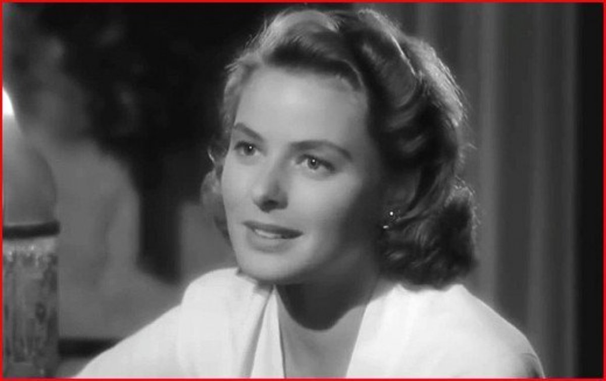 Ingrid Bergman as Ilsa in Casablanca.