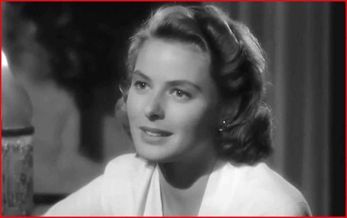 Ingrid Bergman as Ilsa in Casablanca.