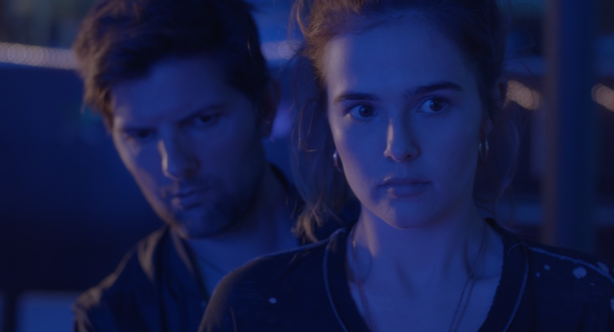 "Adam Scott and Zoey Deutch as Will and Erica in Max Winkler's, ""Flower."""