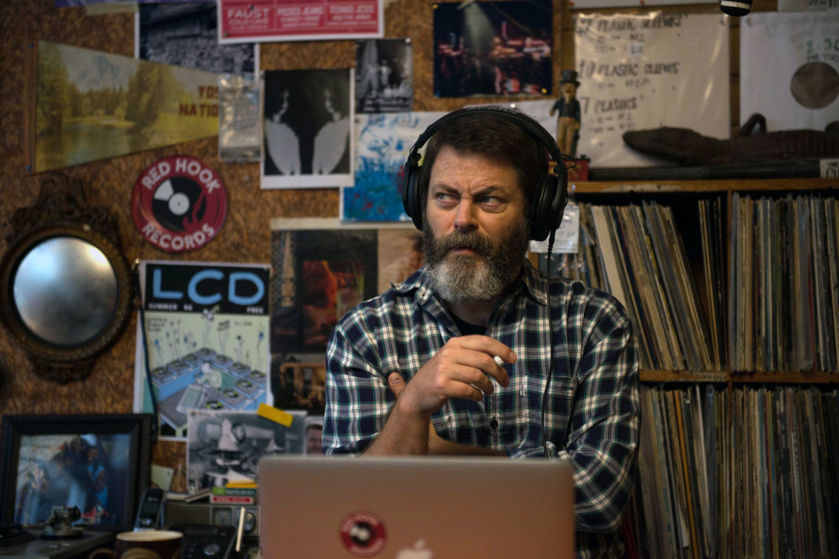 "Nick Offerman as Frank Fisher in, ""Hearts Beat Loud."""