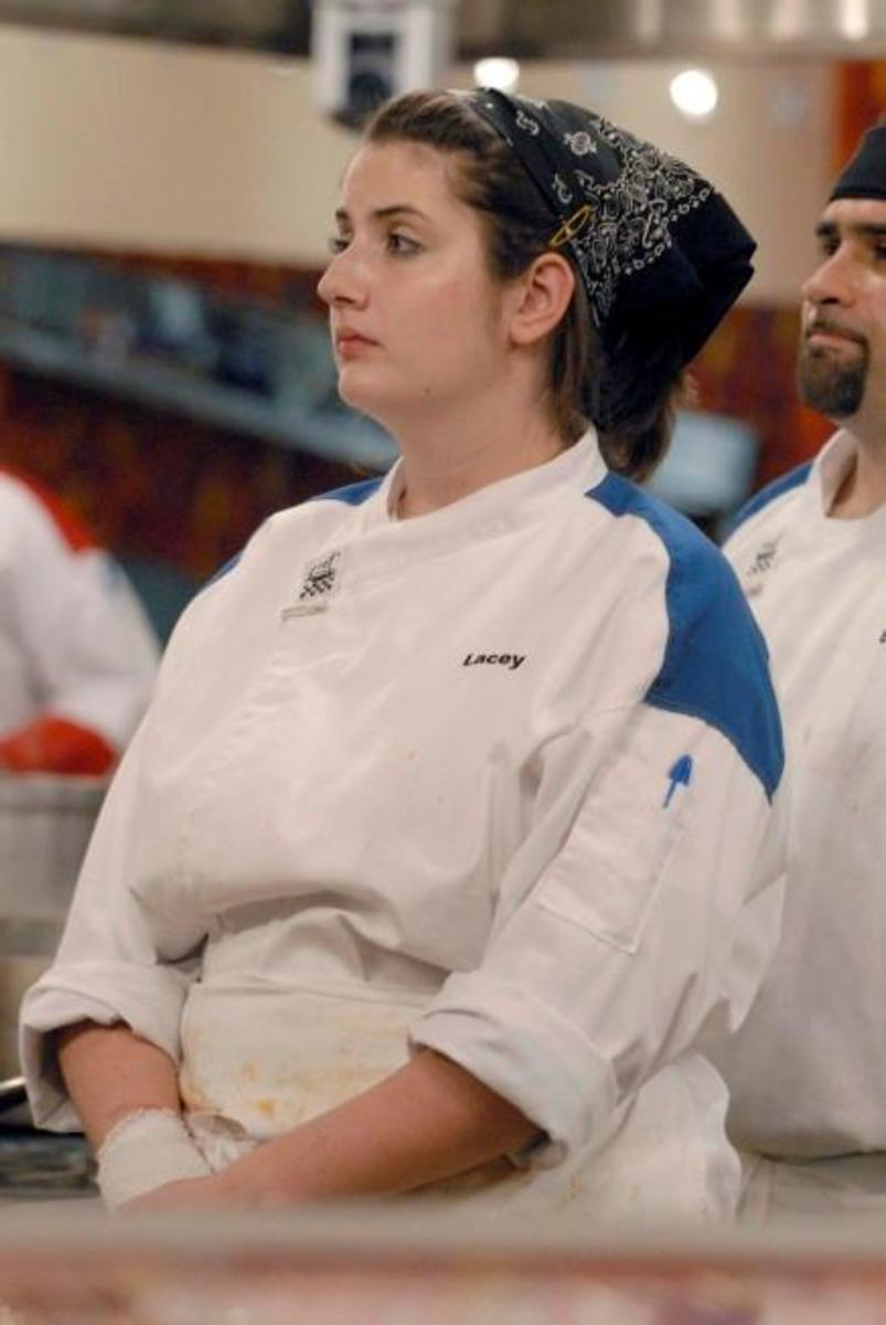 Lacey D' Angelo was one of the least hardworking contestants in Season 5 of Hell's Kitchen.