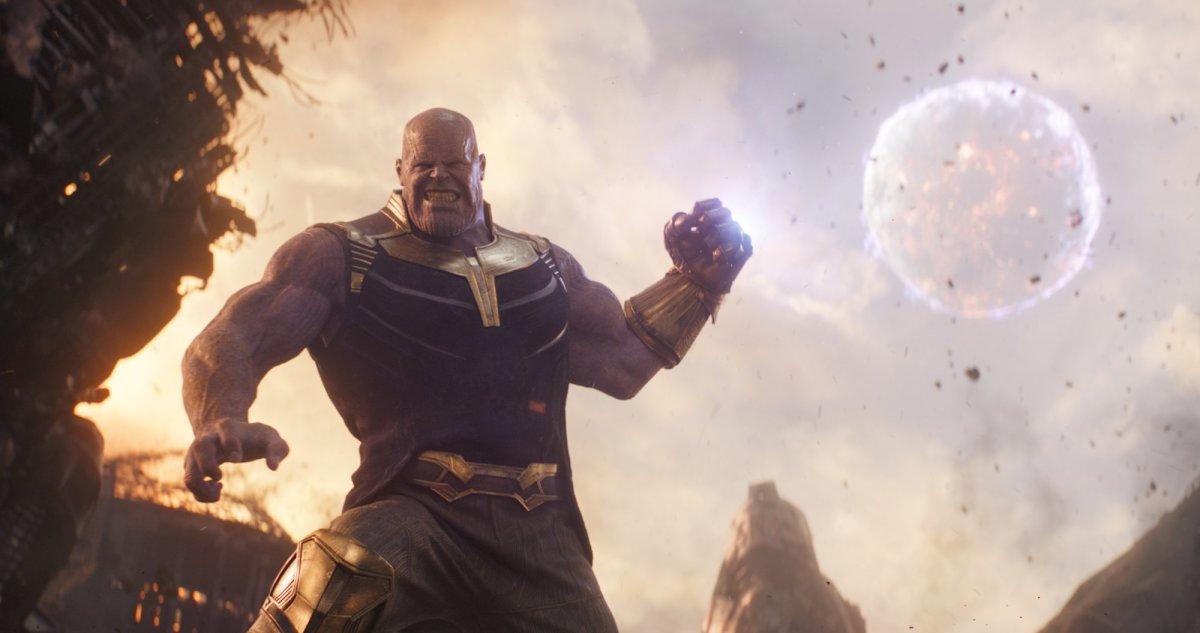 "Josh Brolin as Thanos in, ""Avengers: Infinity War."""