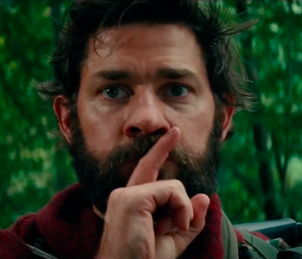 "Krasinski officially has the coolest ""Shh"" pose in  Hollywood"