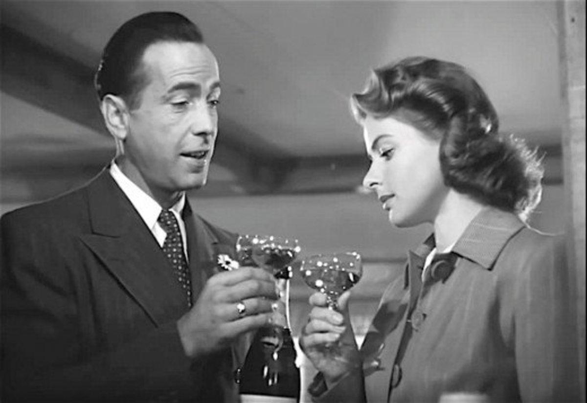 During the filming of Casablanca, actress Ingrid Bergman looked down on her co-star Humphrey Bogart.