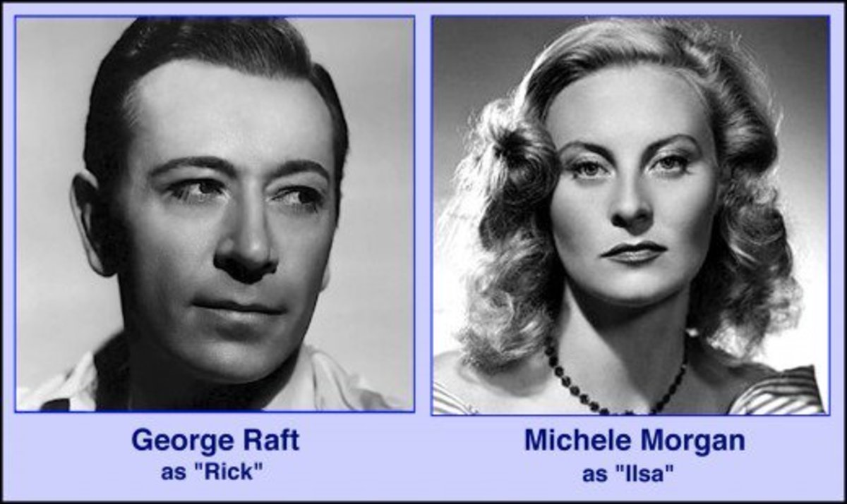 "Humphrey Bogart and Ingrid Bergman were not the first actors to be offered the starring roles in ""Casablanca.""  Can you imagine George Raft and Michele Morgan as Rick and Ilsa?"