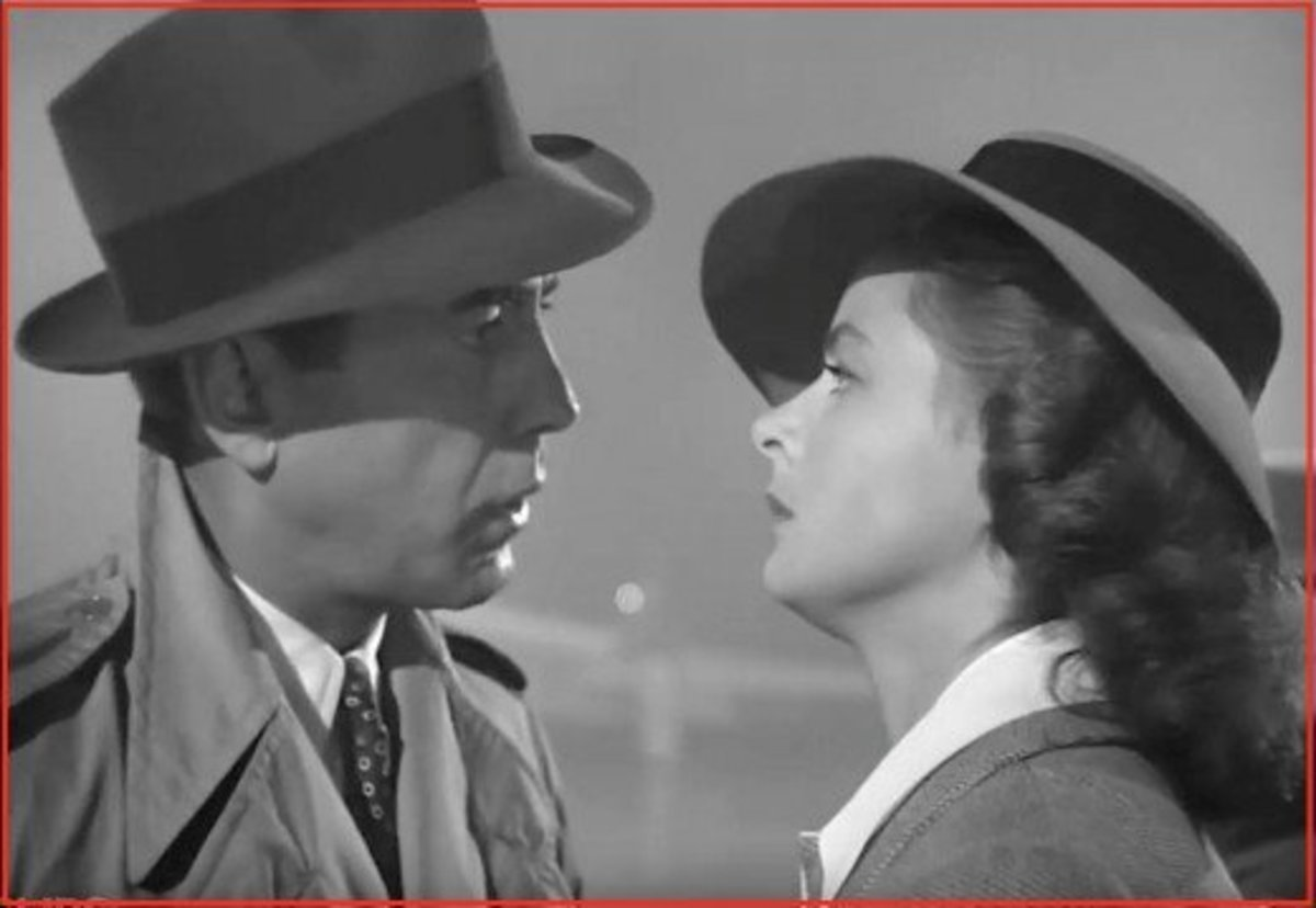 Humphrey Bogart and Ingrid Bergman.  Bogie was nominated for a Best Actor Oscar for his role as Rick, but lost to Paul Lukas who starred in Watch on the Rhine.  Casablanca, however, did win for Best Picture.