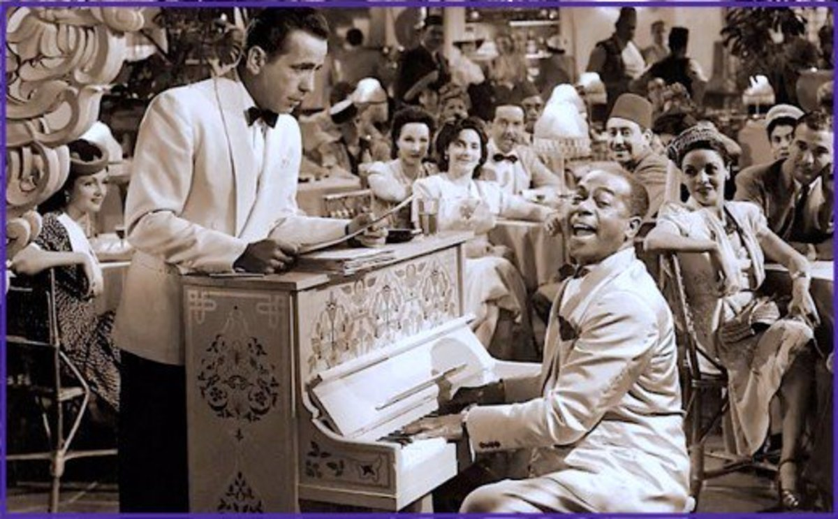 """Humphrey Bogart didn't like for Sam to play """"As Time Goes By"""" in the movie Casablanca.  Today it ranks as one of Hollywood's most beloved songs."""