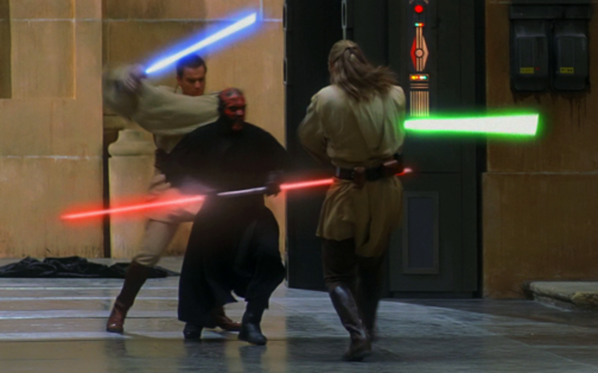 Obi-Wan and Qui-Gon vs Darth Maul