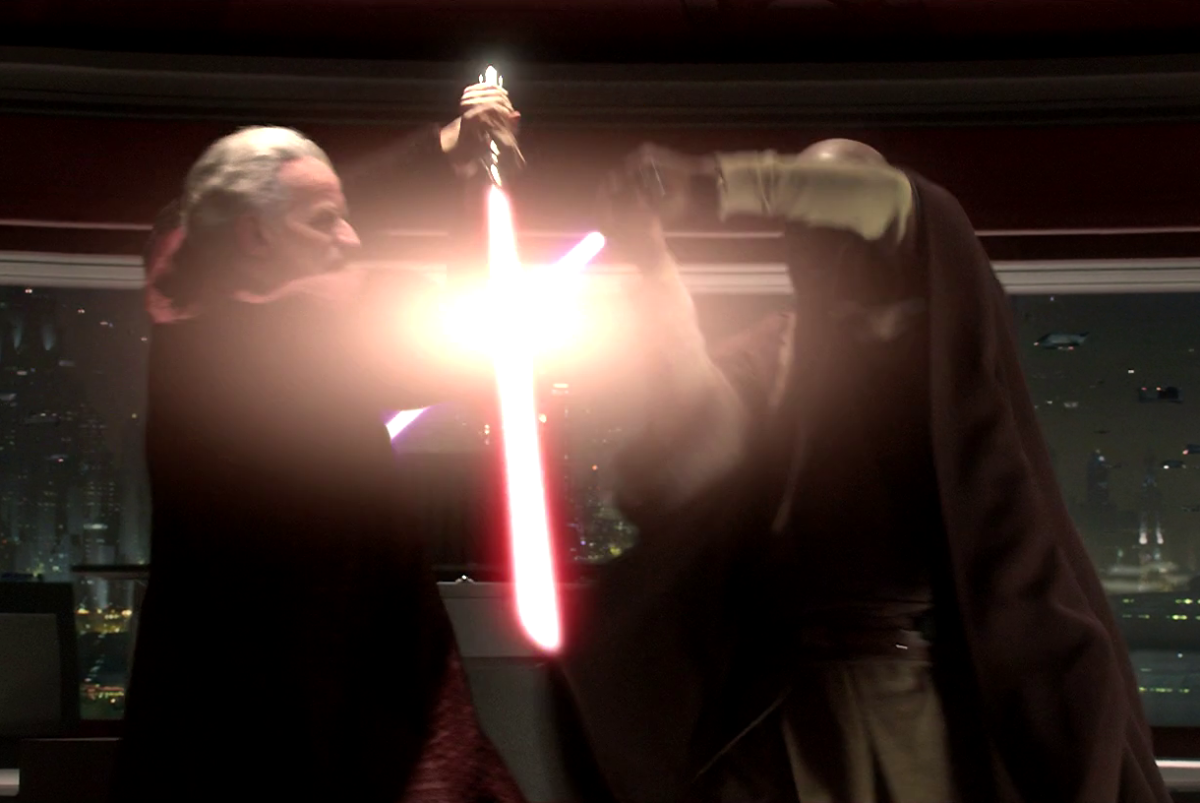 Darth Sidious vs Mace Windu
