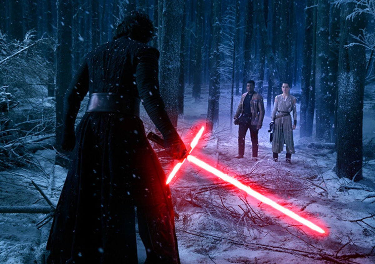 Kylo Ren vs Finn and Rey