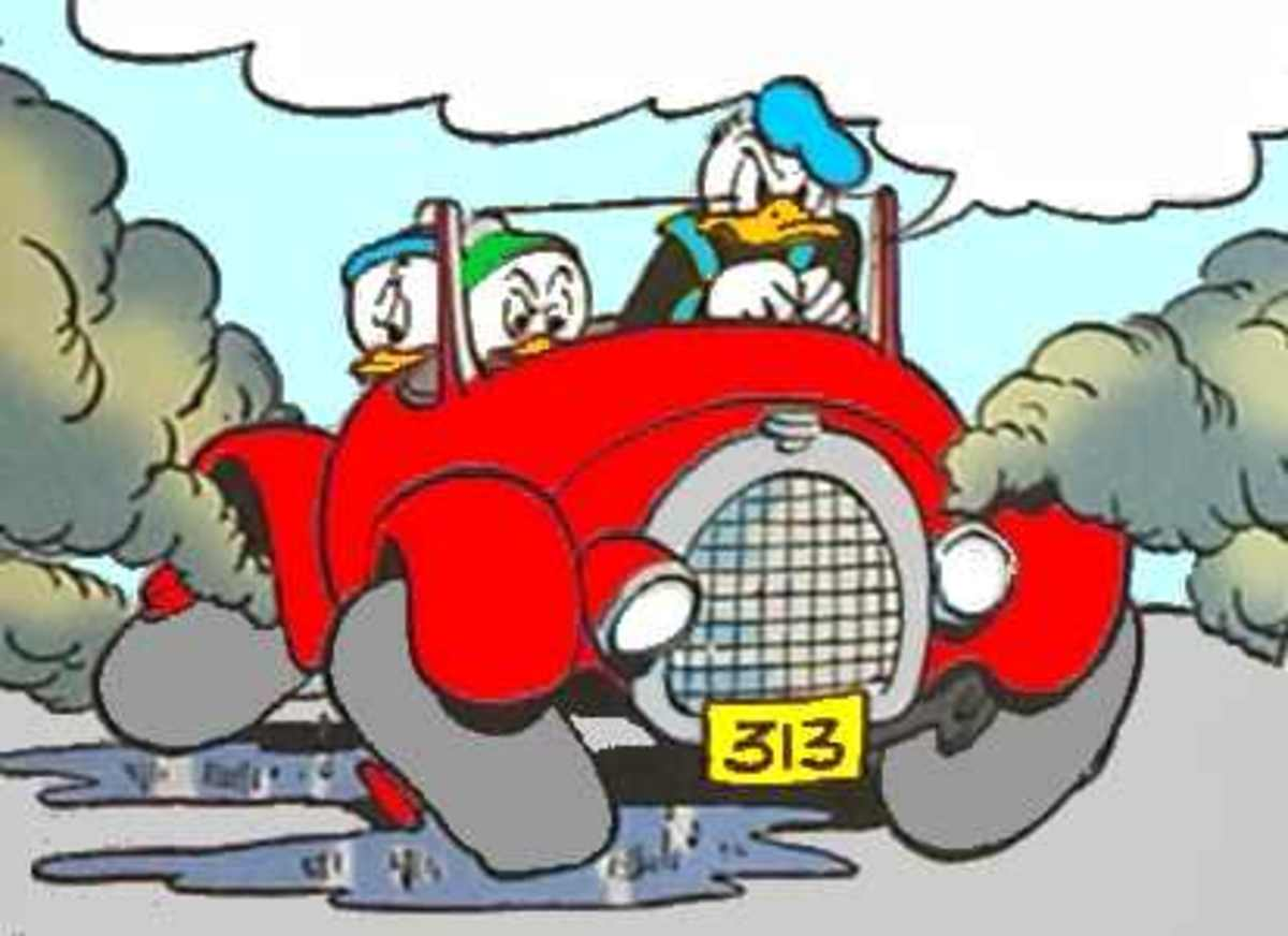 The license plate number represents Donald Duck's birthday.