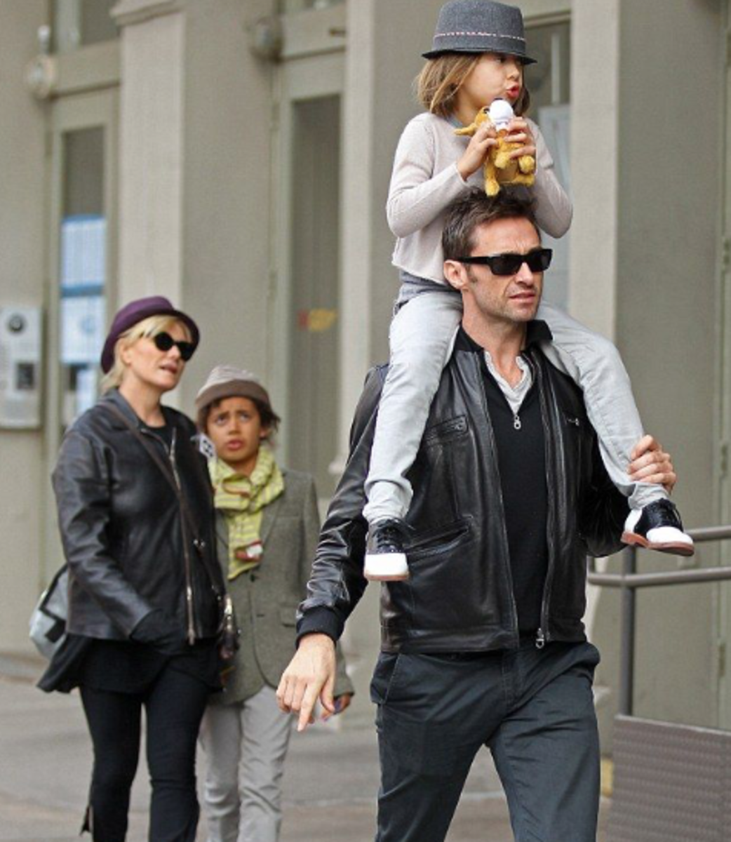 Debra, Oskar, Ava, and Hugh enjoy a leisurely stroll