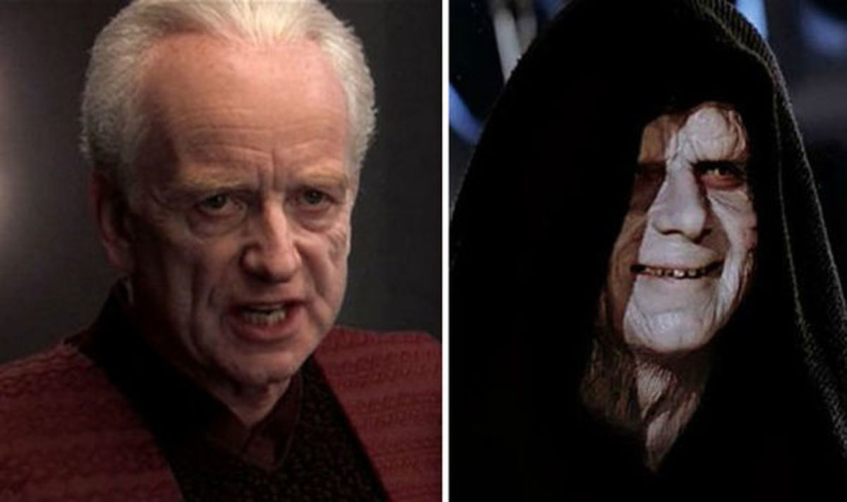 Palpatine in Revenge of the Sith and Return of the Jedi