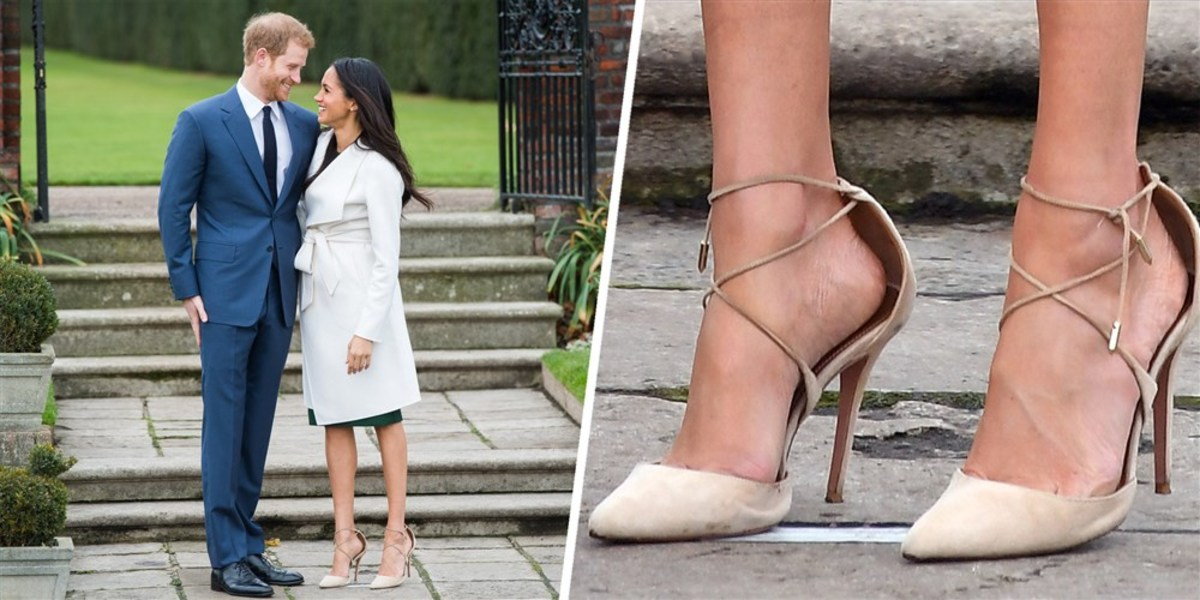 These are the oversized shoes Meghan Markle wore November 2017 when she and Prince Harry announced their engagement.