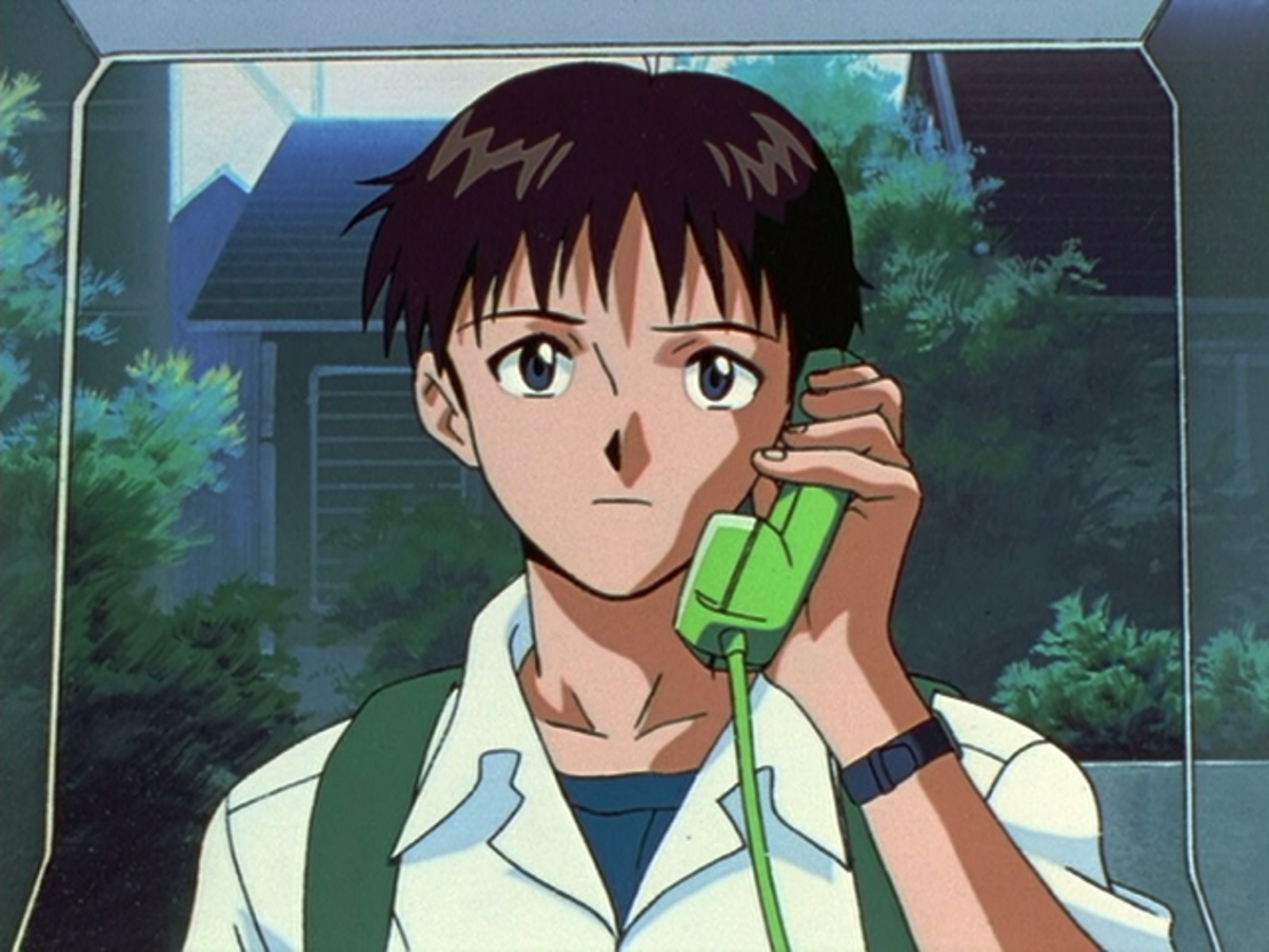 Shinji at the start of the series.
