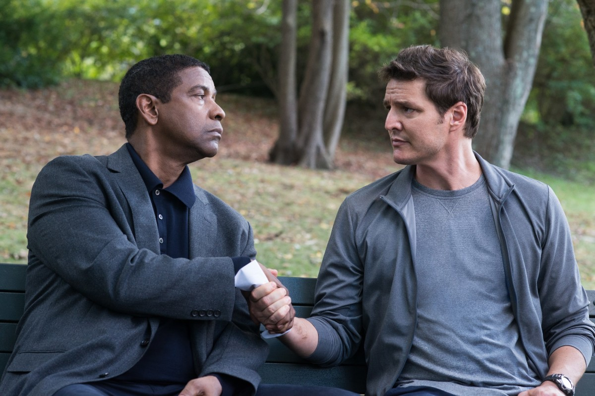 "Denzel Washington and Pedro Pascal as Robert McCall and Dave York in, ""The Equalizer 2."""