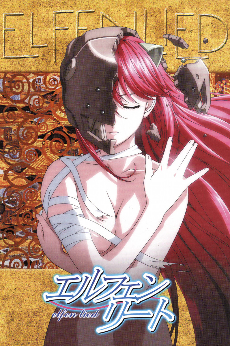 A promotional poster for Elfen Lied.