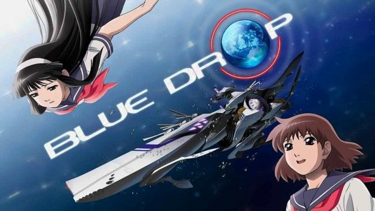 A promotional image promoting Blue Drop.