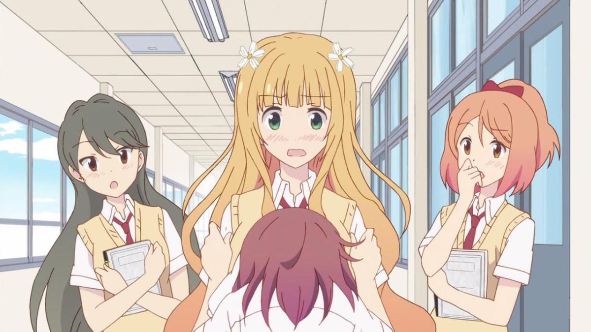 A still from the anime Sakura Trick