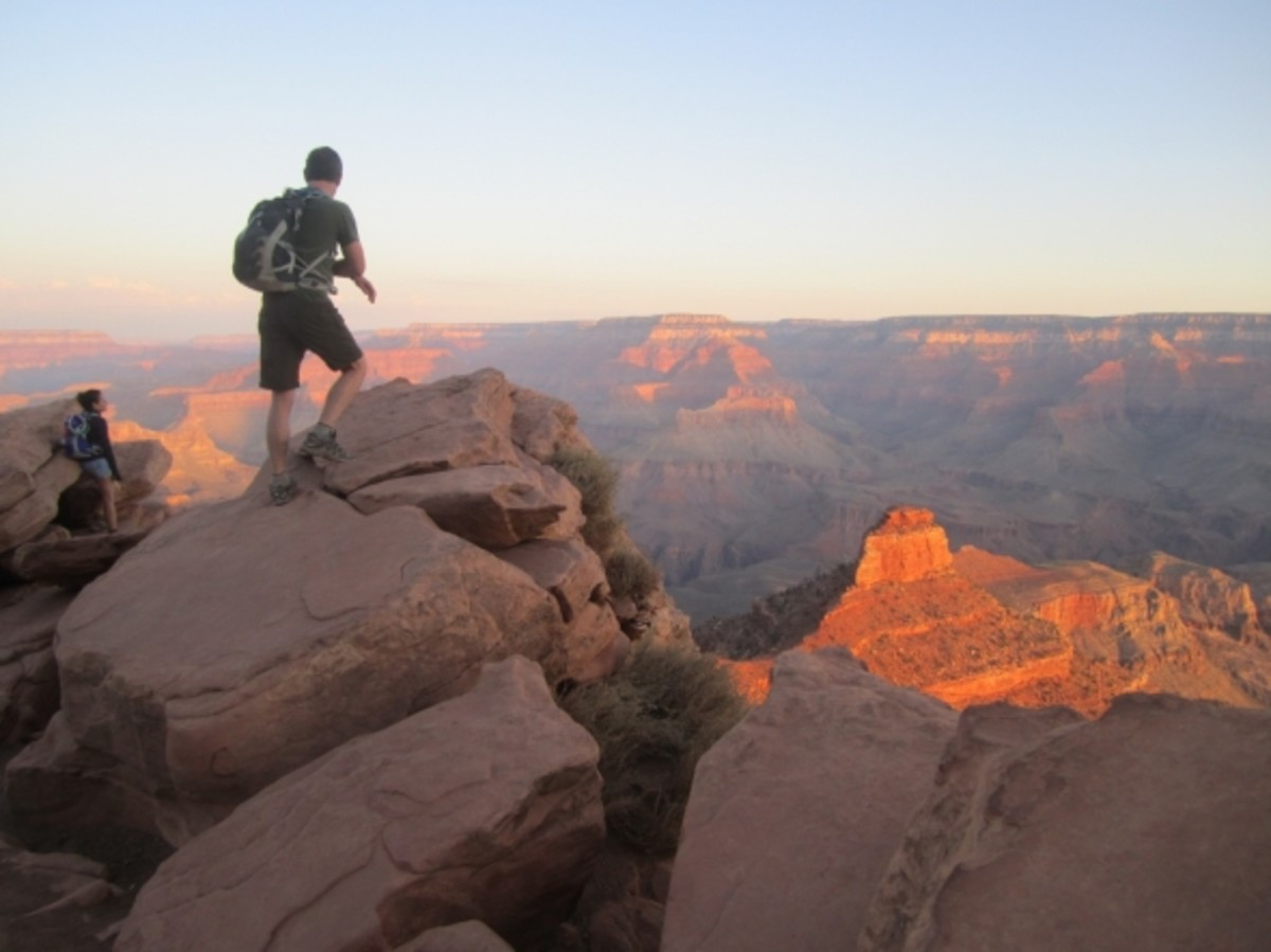 My friend Martin at Ooh-Aah Point on the South Kaibab Trail, Grand Canyon, taken on a rim-to-rim hike on October 1st.