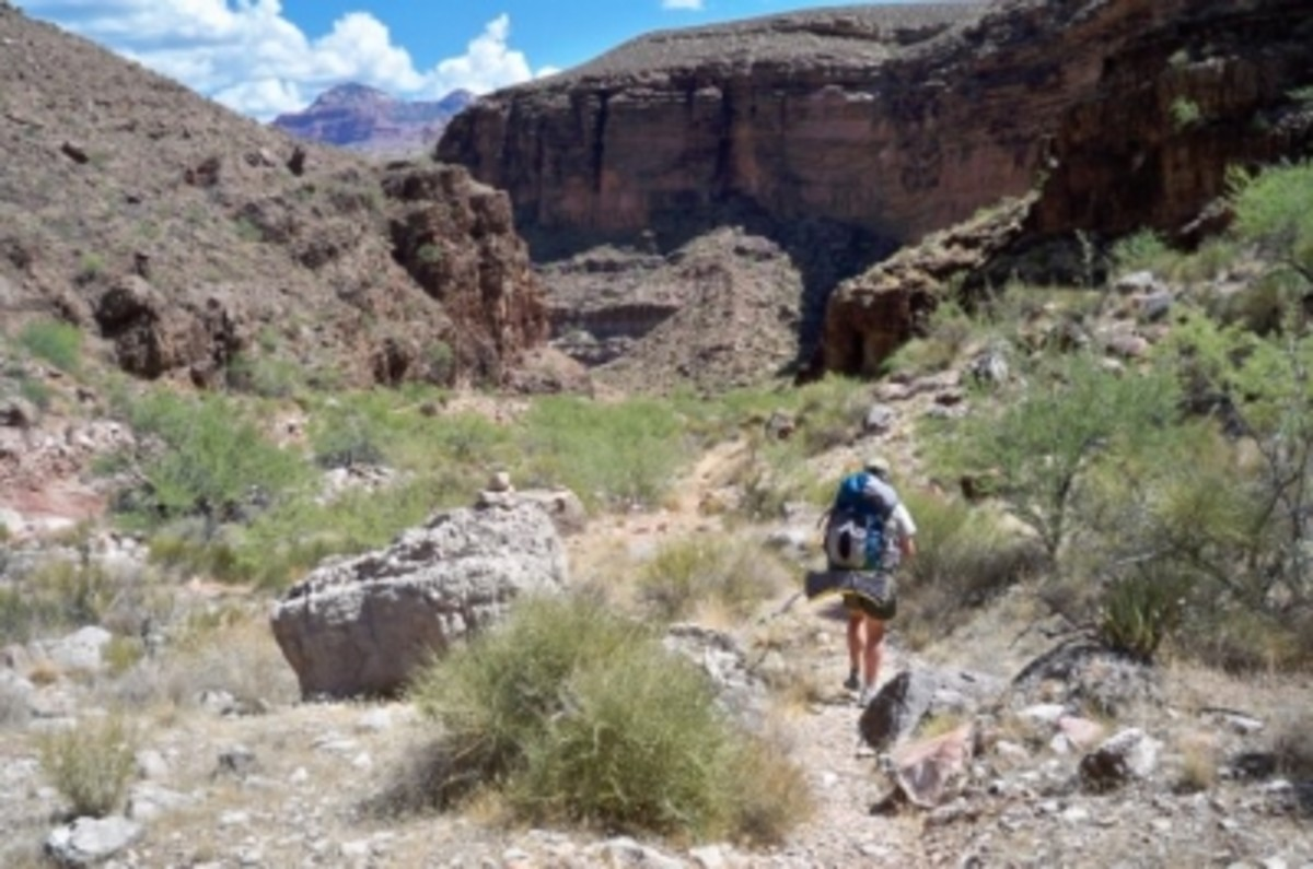 The temperature soars near midday as we pass through the Tonto, where there's no shade to be found.