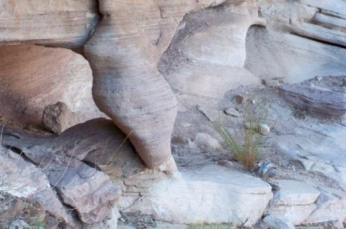 You see some really interesting rock formations on a smaller scale too.