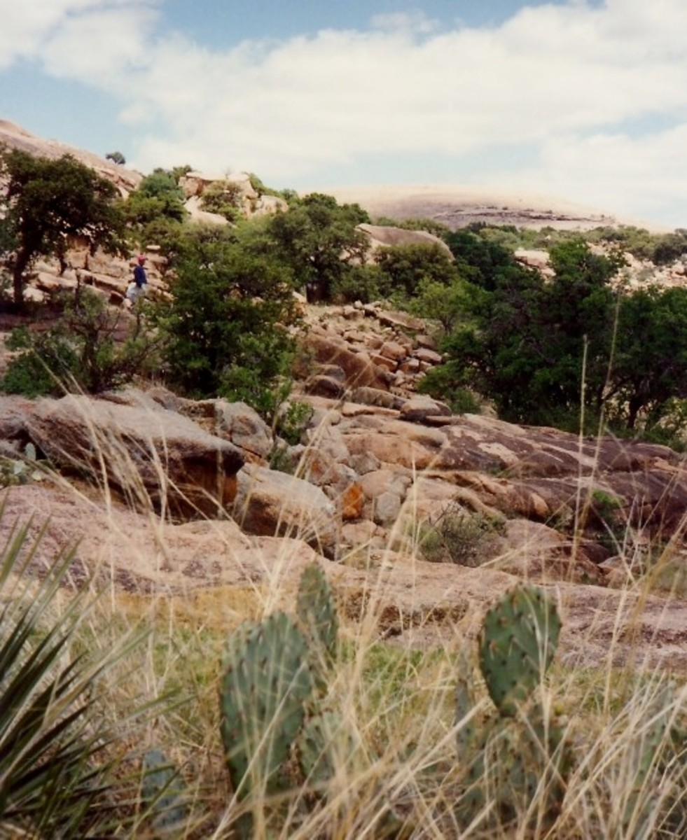 Looking back at Enchanted Rock