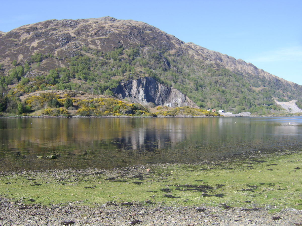Old and New Quarries at Bonawe, near Taynuilt