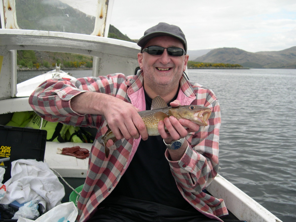 Codling Caught at the Quarry on Loch Etive