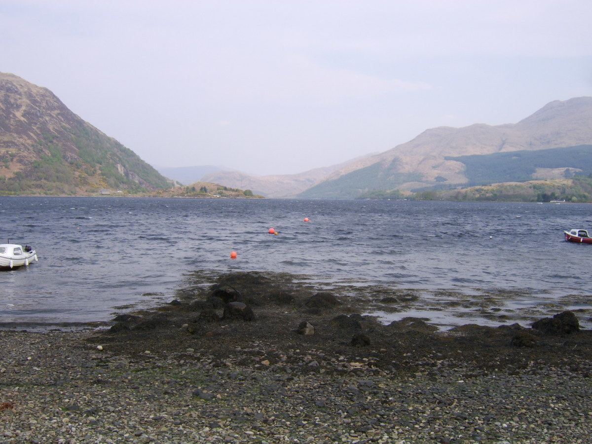 Looking up Loch Etive from Jetty at Airds Bay